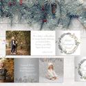 Karácsonyi fényképes leporelló képeslap, Otthon & lakás, Naptár, képeslap, album, Képeslap, levélpapír, Fotó, grafika, rajz, illusztráció, Kedves idézettel és a saját fotókkal igazán különleges ajándék.  Mérete: 13*39 cm, 3 felé hajtogato..., Meska