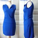 Blue Dream - női egész ruha, Ruha, divat, cipő, Női ruha, Ruha, Varrás, Akvamarin kék divatos egész ruha zsebbel. Letisztult, és extra nőies. Válltól mért hossza 84 cm.  A..., Meska