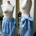 Miss Dior szoknya, Ruha, divat, cipő, Női ruha, Szoknya, Varrás, Csodás hagymaszoknya 17 cm széles köthető övvel. Pamutballonból készült, kékes szürke árnyalatú,  m..., Meska