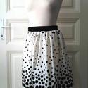 Mary Poppins - szoknya, Ruha, divat, cipő, Női ruha, Szoknya, Varrás, Elegáns taft szoknya. Klasszikus fekete-fehér pöttyös. Alkalmi darab, minden korosztálynak. Ha mega..., Meska