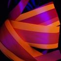 Kézműves Meteor / Poi UV SZALAGOS  (150cm-es magasságtól), Játék, Mindenmás, Készségfejlesztő játék, Varrás, A szalagok színe: narancssárga, rózsaszín és pink.  A meteor, egy zsonglőrjáték, amit egyszerű elsa..., Meska