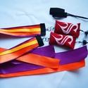 Kézműves Meteor/ Poi  közepes 4-8 éves korig cserélhető szalagos  (140cm-es magasságig), Játék, Mindenmás, Készségfejlesztő játék, A szalagok színe: narancs, lila, sárga Babzsák színe: piros  A meteor, egy zsonglőrjáték, ami..., Meska