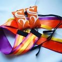 Kézműves Meteor/ Poi  közepes 4-8 éves korig cserélhető szalagos  (140cm-es magasságig), Játék, Mindenmás, Készségfejlesztő játék, A szalagok színe: lila, narancs, sárga Babzsák színe: narancssárga.  A meteor, egy zsonglőrjá..., Meska
