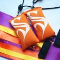 Kézműves Meteor/ Poi  közepes 4-8 éves korig cserélhető szalagos  (140cm-es magasságig), Játék, Mindenmás, Készségfejlesztő játék, A szalagok színe: lila, narancs, sárga Babzsák színe: narancs  A meteor, egy zsonglőrjáték, a..., Meska