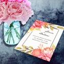 Virágoskert esküvői meghívó szett, Virágoskert esküvői meghívó és szett: Burjá...