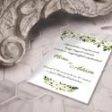 Romantikus virágos esküvői meghívó és szett