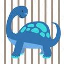 Barátságos dinoszauruszok - kép sorozat gyerekszobába, babaszobába, Minden kisfiú életében eljön a dínós korszak...
