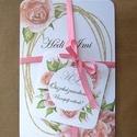 Esküvői szett, Rózsás esküvői szett: - meghívó - program - ...