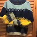 vastag pulcsi , Ruha, divat, cipő, Női ruha, Felsőrész, póló, Kötés, Ezt a pulcsit vastag fonalból kötöttem, puha, meleg L-s méretű. A színek közötti átmenetet norvég m..., Meska