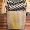 kinőtt ujjú kötött pulcsi , Ruha, divat, cipő, Női ruha, Felsőrész, póló, Kötés, Ez a pulcsi középvastag mohair jellegű fonalból készült, S-M-s méret, Meska