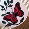 Háncs dobozka - 5 , Dekoráció, Dísz, Szív alaku háncs dobozka 6x4 cm - szintén pillangós csak más , Meska