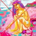 """"""" Parton """", Képzőművészet, Festmény, Festmény vegyes technika, Grafika, Számítógépen készült festményem fotópapírra nyomva, a kívánt színű paszpartuval, aláí..., Meska"""