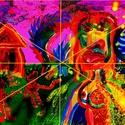 Varázs dinnye, Dekoráció, Képzőművészet, Grafika, Napi festmény, kép, Festészet, Fotó, grafika, rajz, illusztráció, Számítógépes festmény,színes papírra  nyomtatva, hátoldalán saját kezű aláírással. Mérete A/4-A/3-i..., Meska