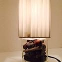 Üvegbe zárt ősz, Otthon, lakberendezés, Lámpa, Asztali lámpa, Hangulatlámpa, Mindenmás, Üvegművészet, Téglalap alakú üveg kifurva dugvillás billenő kapcsolós vezetékkel bevezetékelve E14-es foglalattal..., Meska