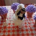 Esküvői dekoráció asztalra, Esküvő, Esküvői dekoráció, Esküvői csokor, Mindenmás, Esküvői asztaldekoráció Gondosan, egyesével lettek kivágva a virág szirmok, amelyeket saját kézzel ..., Meska