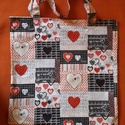 """""""LOVE""""  textilvászon bevásárló táska, válltáska, szatyor, Táska, Szatyor, Válltáska, oldaltáska, Egyedi, saját készítésű bélés nélküli textilvászon szatyor, válltáska. A nejlon szatyrot..., Meska"""