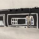 Kulcstartó, Mindenmás, Kulcstartó, Varrás, Vászonból készült, vatelinnel bélelt, összehajtható, gombbal záródó kulcstartó. Több kulcs tárolásá..., Meska