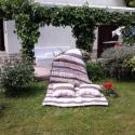 patchwork takaró  párnával KIÁRÚSÍTÁS, Otthon, lakberendezés, Lakástextil, Egyszemélyes, takaró.Mérete:135*210cm. 150 gr-os vatelinnel béleltem. A párnák mérete kb. 50*..., Meska