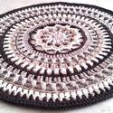 AKCIÓ! Mandala horgolt szőnyeg, Otthon & Lakás, Lakberendezés, Horgolás, Egyedi kézműves termék, csak ez az 1 darab készült belőle !  Különleges mintával, újrahasznosított ..., Meska