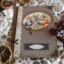 Nosztalgia receptfüzet, Naptár, képeslap, album, Konyhafelszerelés, Jegyzetfüzet, napló, Decoupage, transzfer és szalvétatechnika, Papírművészet, Rendelésre készítek  receptkönyveket. A5 ös méretben szép rusztikus papírlapokkal,egyedileg köttete..., Meska
