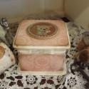 Macis doboz emlékeknek, ékszernek , Ékszer, óra, Dekoráció, Baba-mama-gyerek, Ékszertartó, Decoupage, transzfer és szalvétatechnika, Cuki koptatott macis ékszeres , emlékes kis doboz, kislányoknak, vagy gyermeklelkűeknek :) maci raj..., Meska
