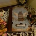 vintage napló hölgyeknek, Naptár, képeslap, album, Jegyzetfüzet, napló, Fotóalbum, Decoupage, transzfer és szalvétatechnika, Rendelésre készítek vintage naplót. A 5 ös méretű különböző mintákkal és kiegészítőkkel,felirattal,..., Meska