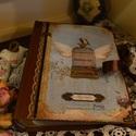 Vintage fotóalbum szépséges képekkel., Naptár, képeslap, album, Fotóalbum, Jegyzetfüzet, napló, Papírművészet, Nosztalgia hangulatú fotóalbumot késztettem, 10x15-ös képeknek, melyekből 200 db -ot helyezhetsz az..., Meska