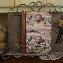 Vintage napló uraknak, vagy határidőnapló , Naptár, képeslap, album, Jegyzetfüzet, napló, Fotóalbum, Decoupage, transzfer és szalvétatechnika, Rendelésre készítek vintage naplókat. A 5 ös méretű különböző mintákkal és kiegészítőkkel,feliratta..., Meska