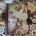 Vintage napló, vagy határidőnapló is rendelhető, Naptár, képeslap, album, Konyhafelszerelés, Jegyzetfüzet, napló, Decoupage, transzfer és szalvétatechnika, Rendelésre készítek könyvet A5- ös méretben 70 lappal ,szép rusztikus papírlapokkal,egyedileg kötte..., Meska