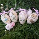 Gyönyörű formájú liba tojások díszítve, Dekoráció, Húsvéti díszek, Ünnepi dekoráció, Nagyon szép formájú , hatalmas liba tojások különböző díszítéssel.  Az ár a képen láth..., Meska