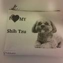 I love my shi tzu.... neszeszer, Táska, Neszesszer, Pénztárca, tok, tárca, Pénztárca, Nanotechnológiával készült bútorszövetre transzfer technikával készítettem. A húzókája e..., Meska