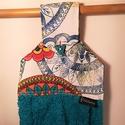 Mandalás konyhai kéztörlő, Konyhafelszerelés, Mandala mintás kéztörlő, mely a szivárvány színeiben pompázik. Különböző színű frottírokkal kérhető...., Meska