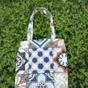 Marrakesh csempemintás  bevásárló táska, öko szatyor, Mindenmás, Táska, Hangszer, zene, Szatyor, A környezet tudatosság ma már követelmény. Amikor már a multik is törölték műanyag szívószálak haszn..., Meska