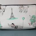 Tacskó és uszkár Párizsban....... neszesszer, Táska, Neszesszer, Egy a művészetért rajongó tacskó, valamint  piperkőc uszkárok kóricálnak az Eiffel torony k..., Meska