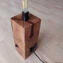 """""""Funiki"""" asztali lámpa, Otthon & Lakás, Lámpa, Asztali lámpa, Famegmunkálás, Hangulatos asztali lámpa tömör bükkfa talppal, LED filament izzóval. A fa felületek simára csiszolv..., Meska"""