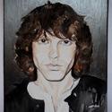Jim Morrison portré, Képzőművészet, Festmény, Akvarell, Festmény vegyes technika, Festészet, Ezt az akvarell képet  nagy kedvencemről, Jim Morrisonról a Doors frontemberéről festettem meg. Veg..., Meska