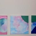 Buborékok-absztrakt akvarell, olajfestmény , Képzőművészet, Festmény, Akvarell, Olajfestmény, Festészet, Együtt vásárolható meg a Buborékok c. absztrakt festmény hármasom. Akvarell és olaj festékkel feste..., Meska