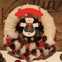 Hóemberes KARÁCSONYI KOPOGTATÓ, Otthon, lakberendezés, Dekoráció, Karácsonyi, adventi apróságok, Karácsonyi dekoráció, A kopogtató átmérője kb 22 cm., Meska