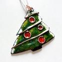 Bohém karácsonyfa - tűzzománc ajándék kísérő / karácsonyfa dísz, Dekoráció, Ünnepi dekoráció, Karácsonyi, adventi apróságok, Ajándékkísérő, képeslap, Ékszerkészítés, Tűzzománc, Egy kis karácsonyi készülődés! :-) Saját tervek alapján készült ez a kis kedves, mindkét oldalán tű..., Meska