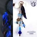 Bohém madártollas tűzzománc nyaklánc - Feathers kollekció