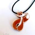 Lili a rókalány - tűzzománc medál, Ez a kedves, bájos rókalány - kinek neve Lili -...