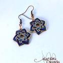 Druida - Kelta stílusú tűzzománc fülbevaló (kék), Kelta stílusú fülbevaló pár, nikkelmentes aka...