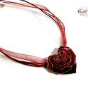 My Valentine - Rózsaszív tűzzománc medál, Ha egy maradandó virágot szeretnél a kedvesedne...