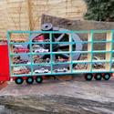 Kamionos fali fa autó tároló , Gyerek & játék, Gyerekszoba, Tárolóeszköz - gyerekszobába, Játék, Fajáték, 24 db os kamionos fa fali autó tároló. 75cm hosszú 26 cm magatároló rekeszek mérete, 10cm hosszú, 5c..., Meska