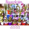 Tavasz és Nyuszifa , Dekoráció, Virágkötés, Nagyon különleges Tavaszfákat, és Nyuszis dekorációkat készítettem.  Alapja: Zanót, vagy zsurló. Tö..., Meska