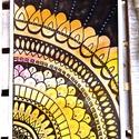 Bőség mandala, Képzőművészet, Napi festmény, kép, Festmény, Akvarell, A bőség mandala fontos jellemzői:  - Minél több kerek formát kell tartalmazzon, mert ezzel ér..., Meska