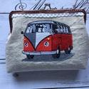 Volkswagen T1  buszos - kendervászon fémkeretes tárca., Táska, Divat & Szépség, Táska, Neszesszer, Pénztárca, tok, tárca, AKCIÓ:   15.000 Ft feletti vásárlás esetén, a postaköltséget én állom amennyiben FOX Post automatába..., Meska