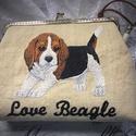 Beagle - kendervászon fémkeretes tárca., Táska, Divat & Szépség, Táska, Neszesszer, Pénztárca, tok, tárca, AKCIÓ:   15.000 Ft feletti vásárlás esetén, a postaköltséget én állom amennyiben FOX Post automatába..., Meska