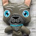 Franciabulldog kabala bábú, Gyerek & játék, Játék, Játékfigura, AKCIÓ:   15.000 Ft feletti vásárlás esetén, a postaköltséget én állom amennyiben FOX Post automatába..., Meska