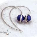 lapis lazuli fülbevaló, Ékszer, Fülbevaló, 9 mm-es lapisgolyó ( ha más méretben szeretnéd, arra is van lehetőség). Ezüstözöttl foglalva, kalapá..., Meska